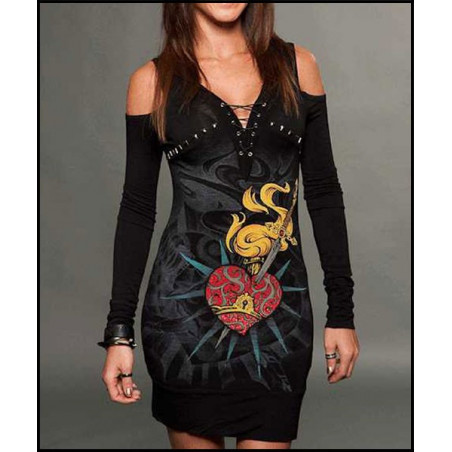 Rebel Spirit Poniard Heart Dress