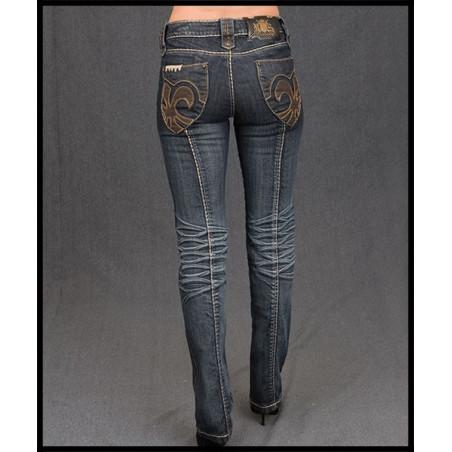 Fleur De Lis Jeans Women Rebel Spirit