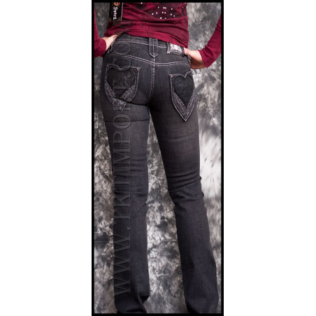 Heart Jeans Women Rebel Spirit