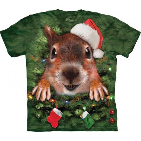 Xmas Tree Squirrel T-Shirt The Mountain