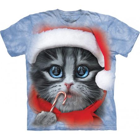 Big Face Xmas Kitty T-Shirt