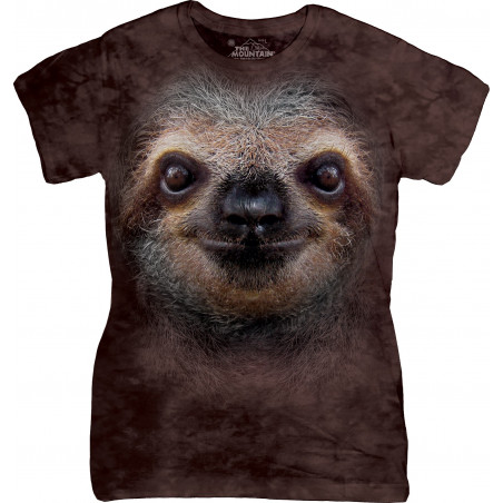 Sloth Face Ladies T-Shirt
