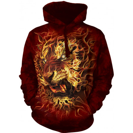 Fire Tiger Hoodie The Mountain