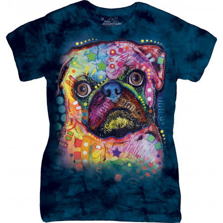 Russo Pug Ladies T-Shirt