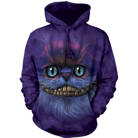 Big Face Cheshire Cat Hoodie The Mountain