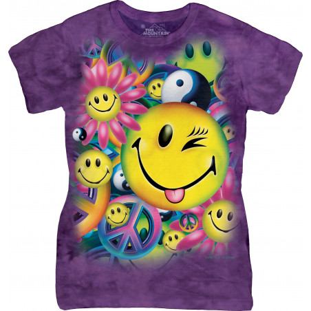 Peace & Happiness Ladies T-Shirt