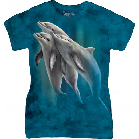 Three Dolphins Ladies T-Shirt The Mountain