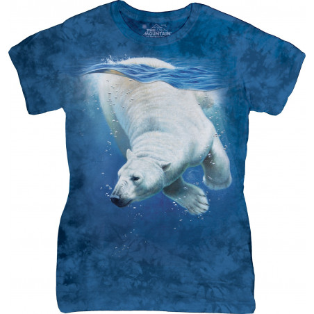 Polar Bear Dive Ladies T-Shirt The Mountain