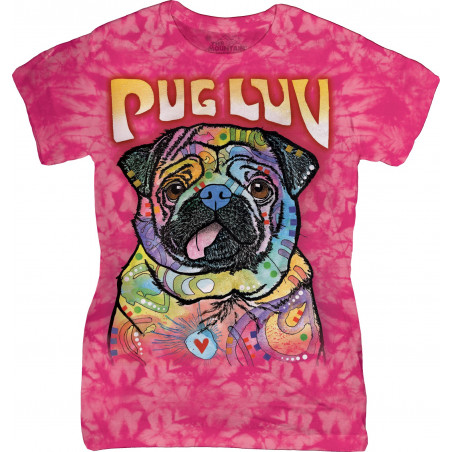 Pug Luv Ladies T-Shirt The Mountain