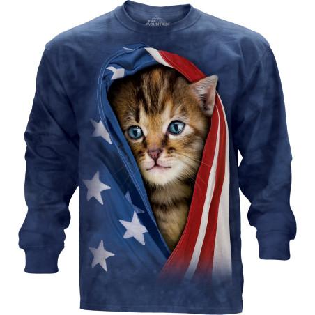 Patriotic Kitten Long Sleeve Tee