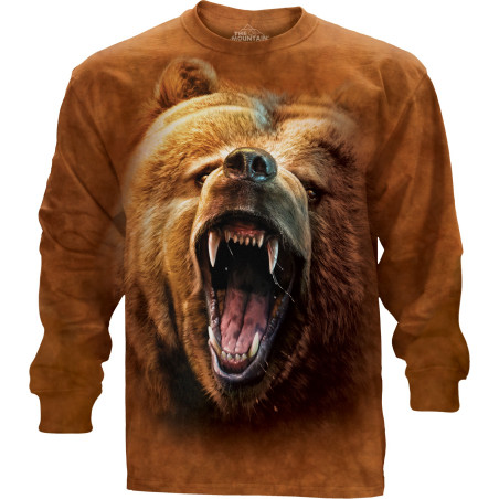 Grizzly Growl Long Sleeve Tee The Mountain