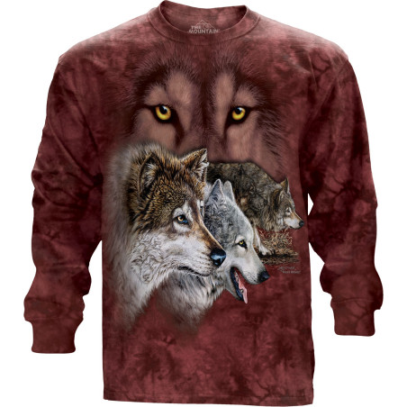 Find 9 Wolves Long Sleeve Tee The Mountain