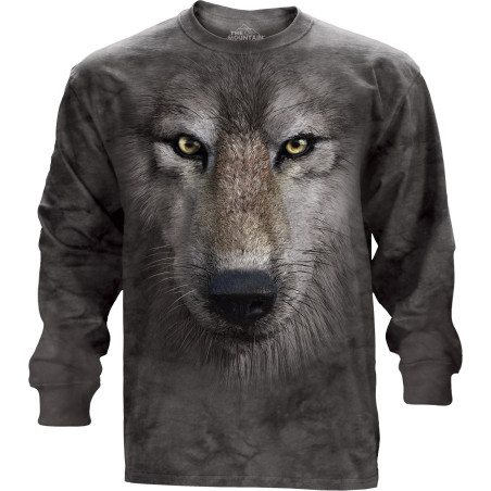 Wolf Face Long Sleeve Tee The Mountain