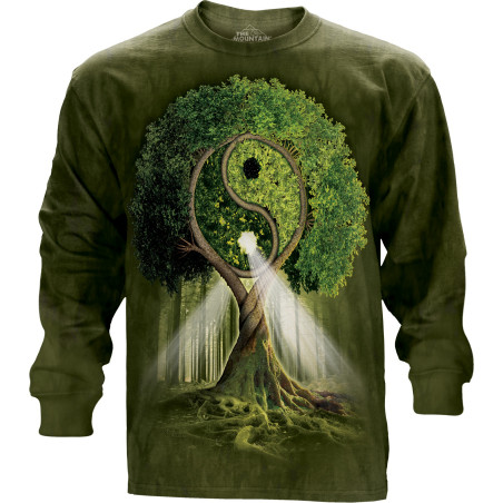 Yin Yang Tree Long Sleeve Tee The Mountain