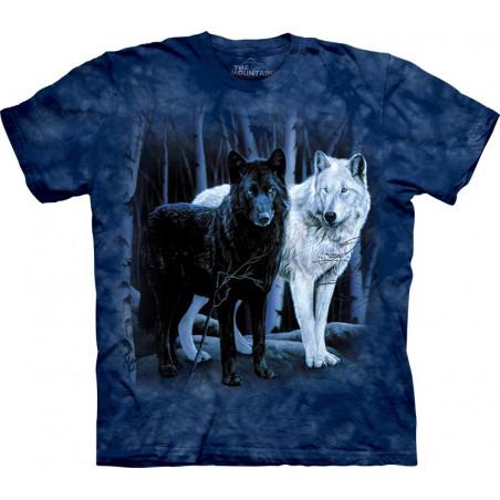 Black & White Wolves T-Shirt The Mountain