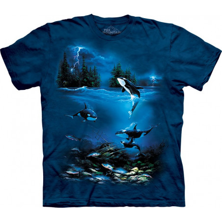 Whales Stormy Night T-Shirt The Mountain