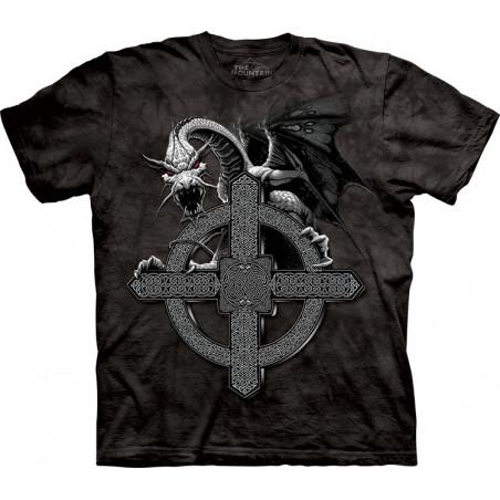 Celtic Cross Dragon T-Shirt The Mountain