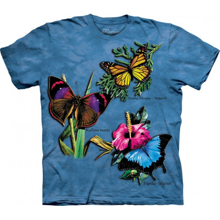 Butterflies Winged Collage T-Shirt The Mountain