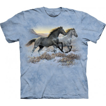 Horses Runing Free T-Shirt The Mountain
