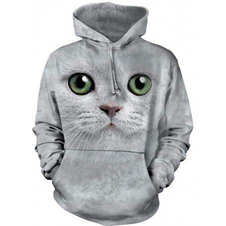 Green Eyes Face Hoodie The Mountain