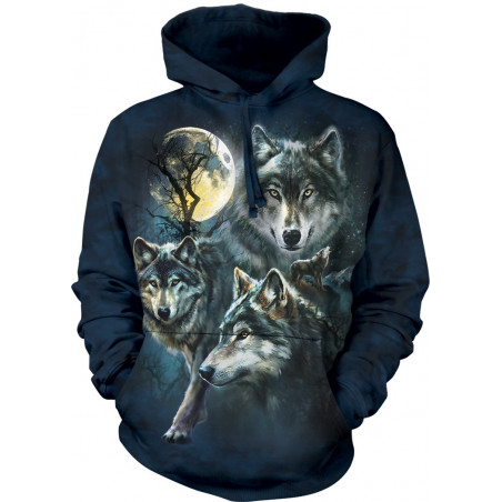 Moon Wolves Collage Hoodie The Mountain