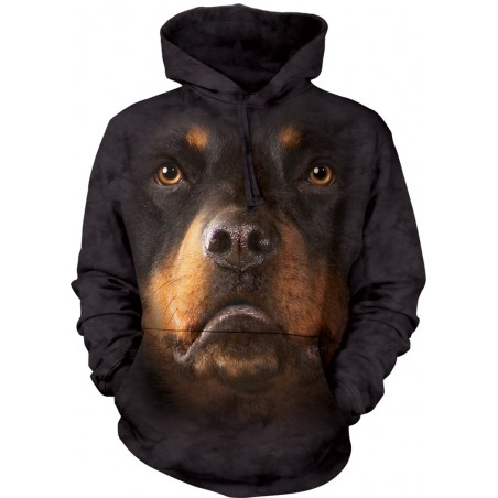 Rottweiler Face Hoodie The Mountain