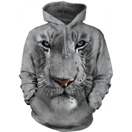 White Tiger Face Hoodie The Mountain