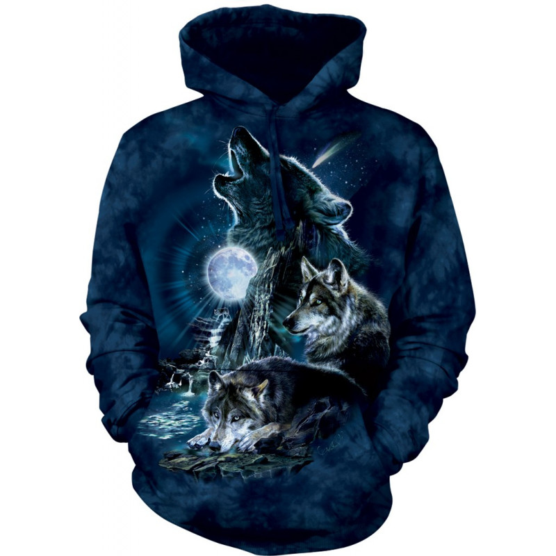Bark At The Moon Hoodie The Mountain Clothingmonster Com