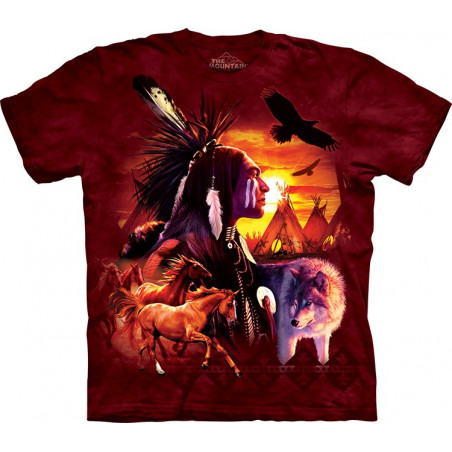 Indian Collage T-Shirt The Mountain