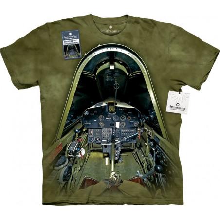 Vought F4u-1d Corsair Cockpit T-Shirt The Mountain