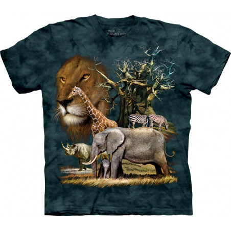 African Collage T-Shirt The Mountain