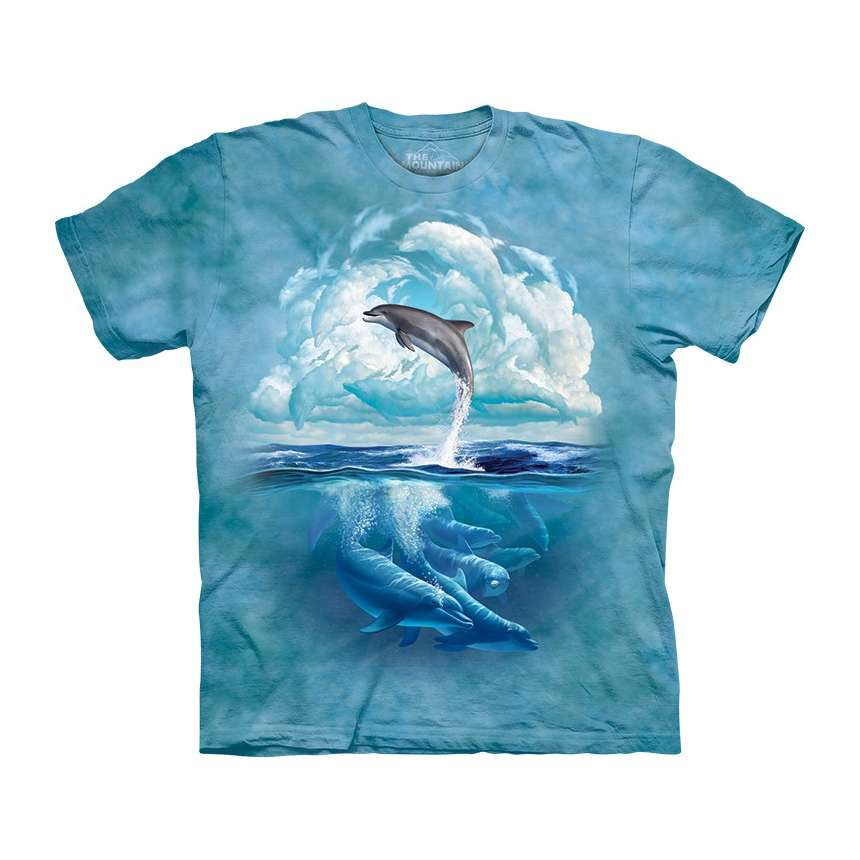 Dolphin sky t shirt the mountain for Dolphins t shirt new logo