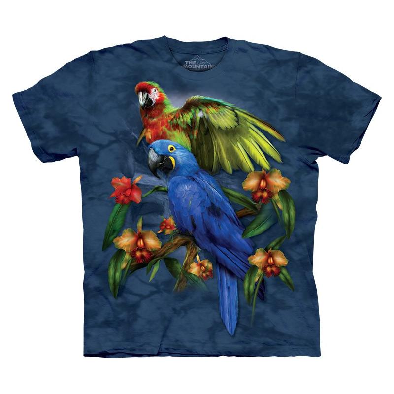 7426ffc04f4 Parrots Tropical Friends T-Shirt The Mountain - clothingmonster.com
