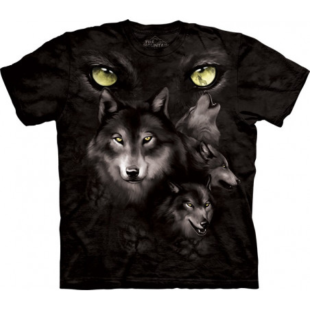 Wolves Moon Eyes Collage T-Shirt