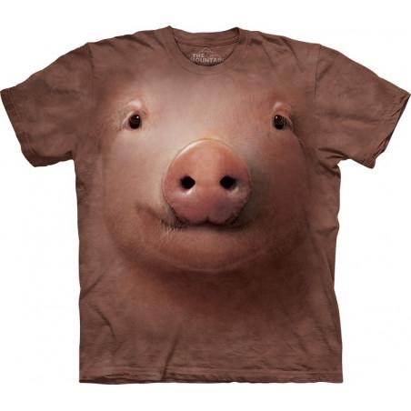 Animal Face T-Shirts Pig Face T-Shirt The Mountain