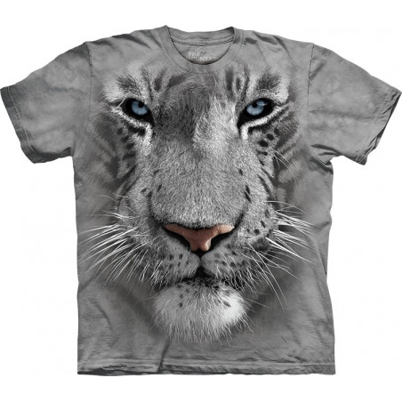 White Tiger Face T-Shirt The Mountain