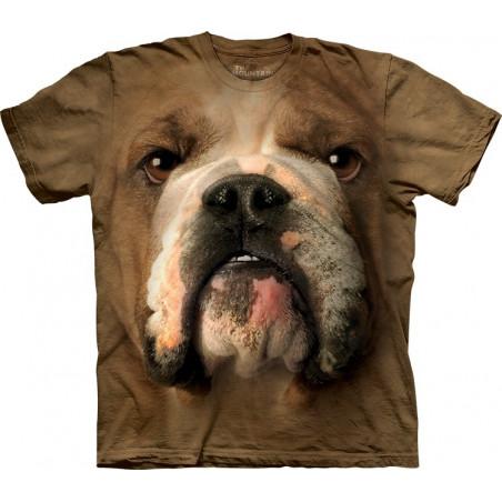 3D T-Shirts Of Dogs Bulldog Face T-Shirt The Mountain