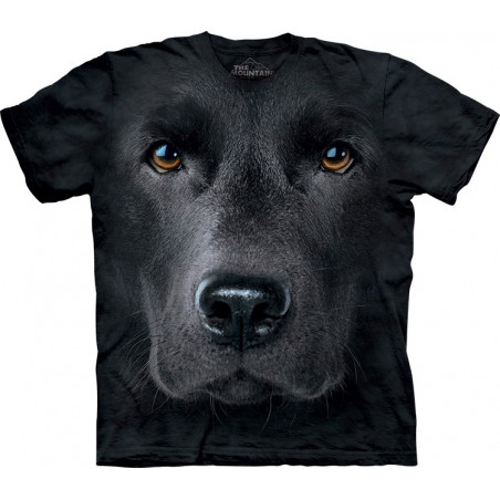 3D Black Lab Face T-Shirt The Mountain
