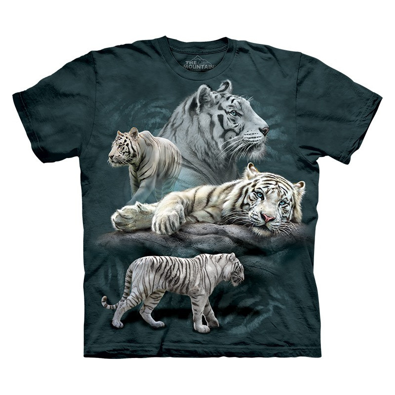 White Tiger Collage T Shirt Clothingmonster Com