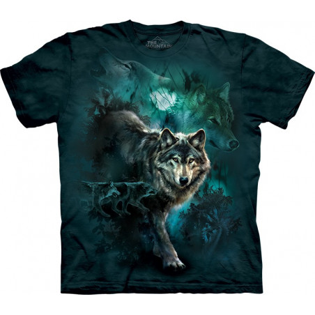 Night Wolves Collage T-Shirt The Mountain