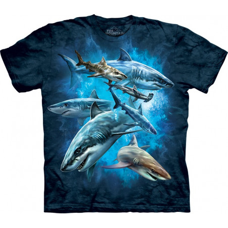 Shark Collage T-Shirt The Mountain
