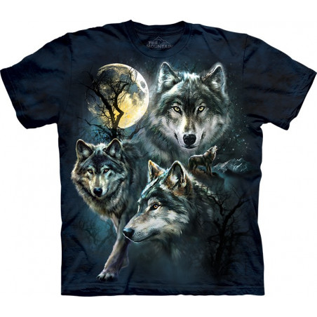 Moon Wolves Collage T-Shirt The Mountain