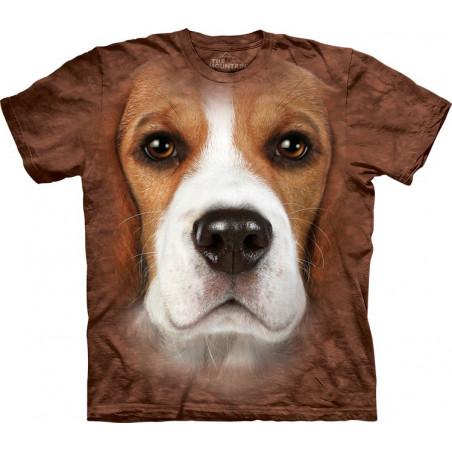 3D Dog Shirts Beagle Face T-Shirt The Mountain
