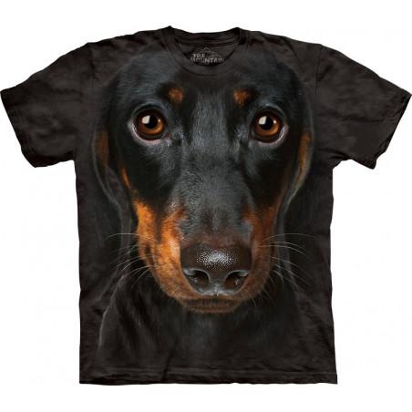 Dachshund 3D Tshirt Dachshund Face T-Shirt The Mountain