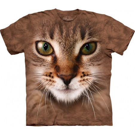 Striped Cat Face T-Shirt The Mountain