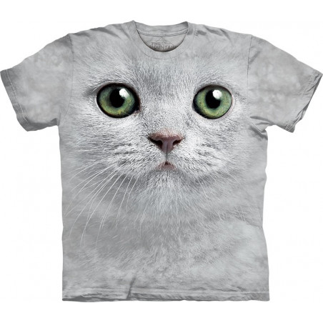 Cat Green Eyes Face T-Shirt The Mountain