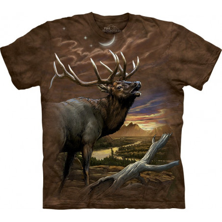 Elk at Dusk T-Shirt The Mountain