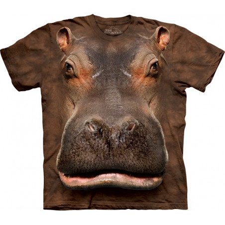3D Hippo Head T-Shirt The Mountain
