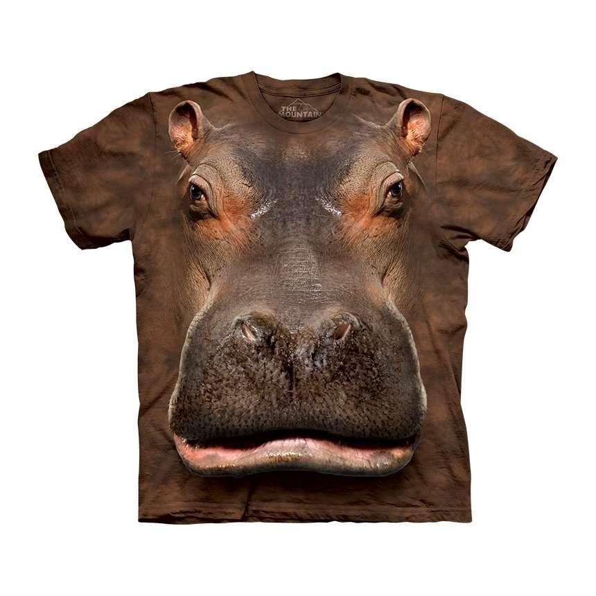 The Mountain Hippo Head T Shirt Clothingmonster Com