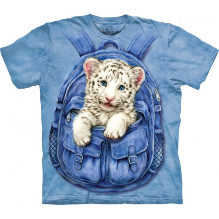 Backpack White Tiger T-Shirt